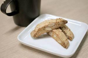 【本日のおいしいモノ】コーヒーに浸してほろりと美味しいビスコッティ!代表タカギからの差し入れ!イメージ