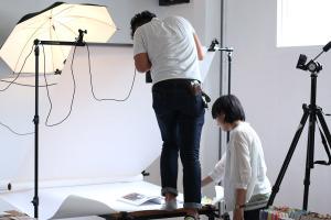 デザインさせて頂いた印刷物と雑誌掲載の実績撮影会イメージ