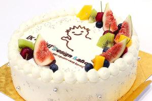 ロゴマーク入りケーキ、頂きました!甘いモノ連投のデザイン事務所イメージ
