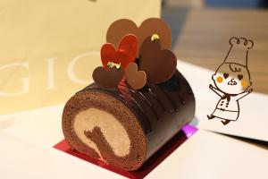 【本日のあまいモノ】 あまーい!チョコロールケーキ!イメージ