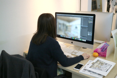 イメージパースはアナログとデジタルを行ったり来たり!_松本市ケーキ屋プロジェクトvol.04