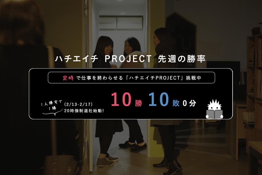 ハチエイチ PROJECT 先週の勝率 2017/2.13-1.17メインイメージ