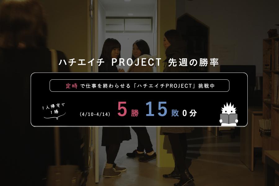 ハチエイチ PROJECT 先週の勝率 2017/4.10-4.14メインイメージ