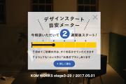 KOMのスケジュール予報 2017.5.01時点