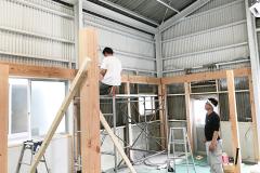 2階フロアを組み始めてます_CONTINUEプロジェクトvol.09