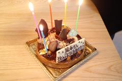 もしかしたら初?のアルバイトスタッフの誕生日祝い!