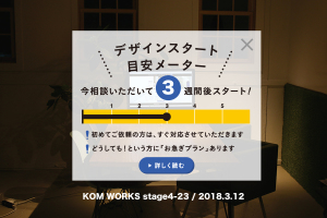 KOMのスケジュール予報 2018.3.12時点イメージ