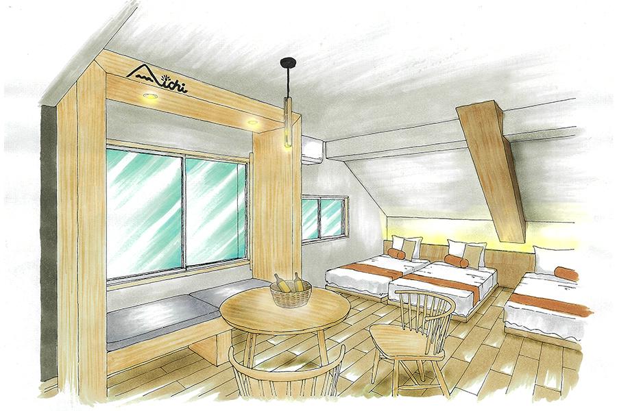 客室のリニューアル_リゾートインヤマイチプロジェクトメインイメージ