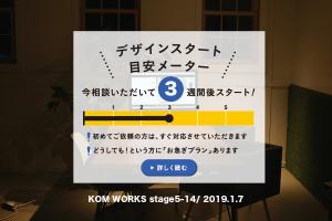 KOMのスケジュール予報 2019.1.7時点イメージ