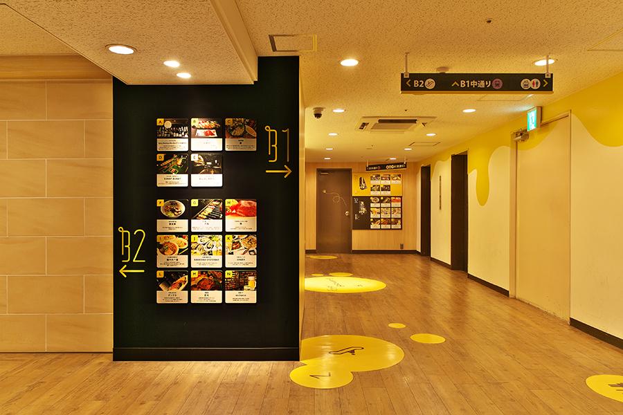 飲食店街のデザイン