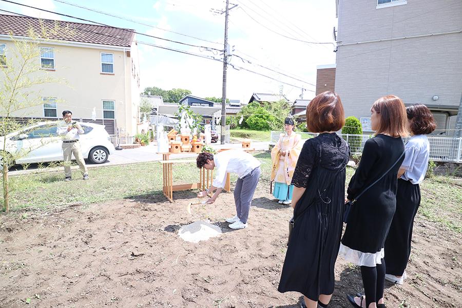 晴天の中、ついに地鎮祭!_HAIR ASTRIAプロジェクトvol.10