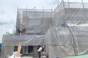 外壁が張られはじめました!!_スクット・このめほいくえんプロジェクトvol.08