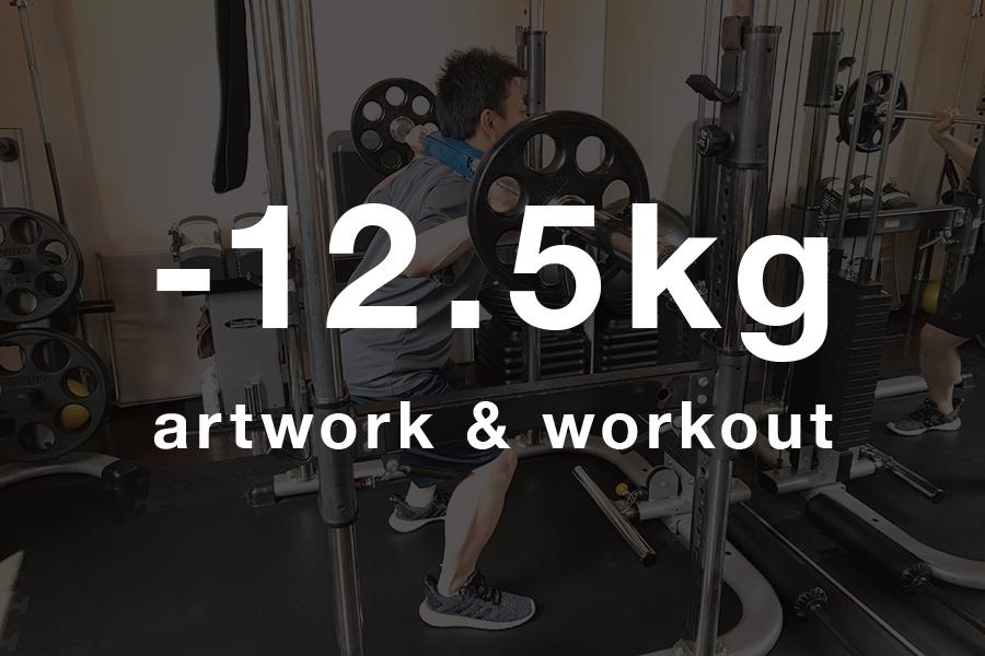 【日曜ユル書き】その108_3ヶ月で12.5キロ痩せた〜アートワークとワークアウトメインイメージ