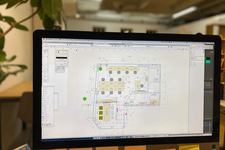 デザイン事務所の図面