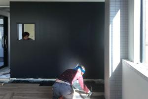 床が貼れました_KOM事務所移転プロジェクトvol.18イメージ