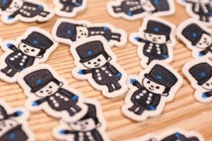 ケーキ屋さんのキャラクターがワッペンになりました!_パティスリーしあわせのえきデザインイメージ