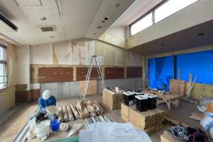 夏休み期間での一期工事がスタート!_落合幼稚園プロジェクトイメージ
