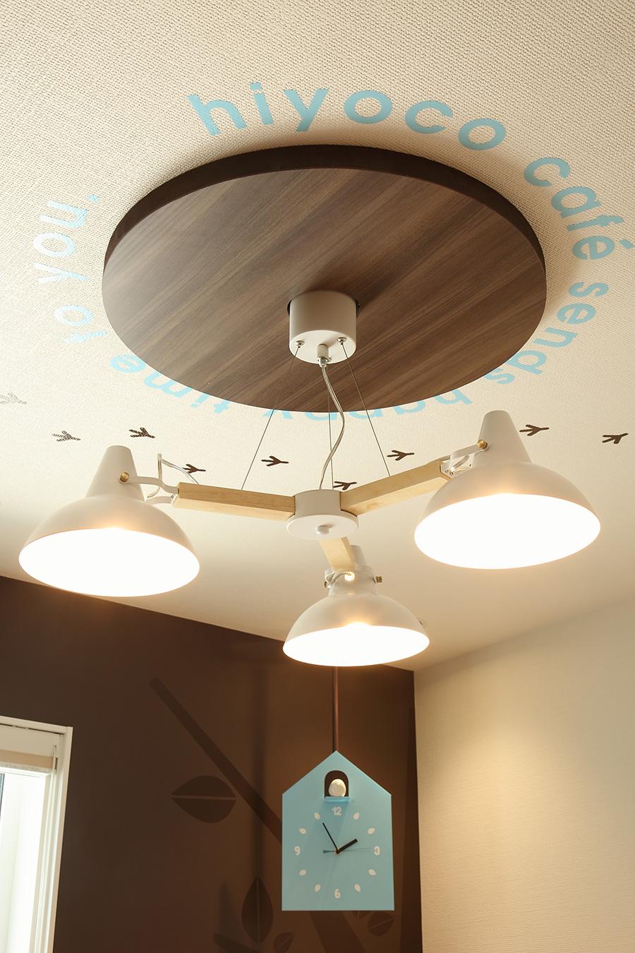 カフェのオリジナル照明