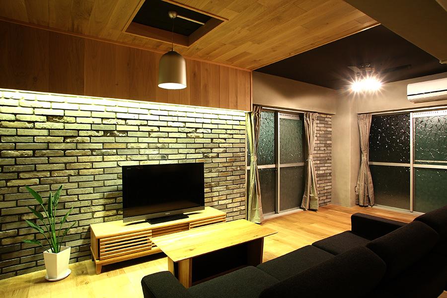 リノベーション住宅の間接照明