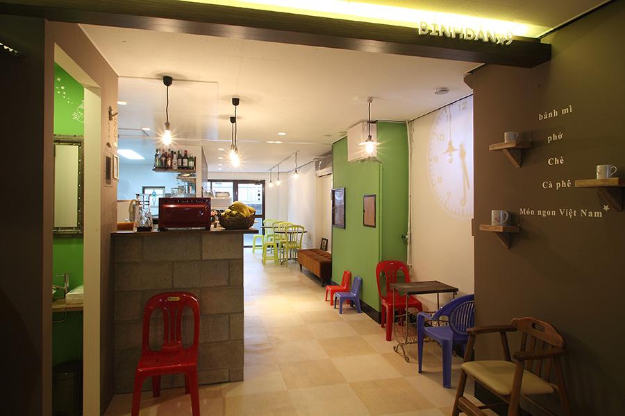 ベトナム料理店の空間デザイン