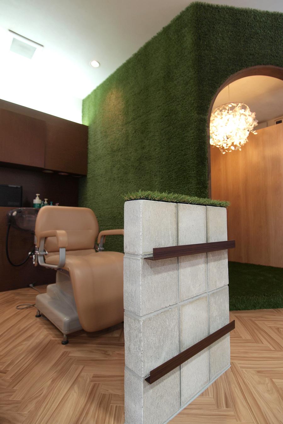 美容室のシャンプースペース