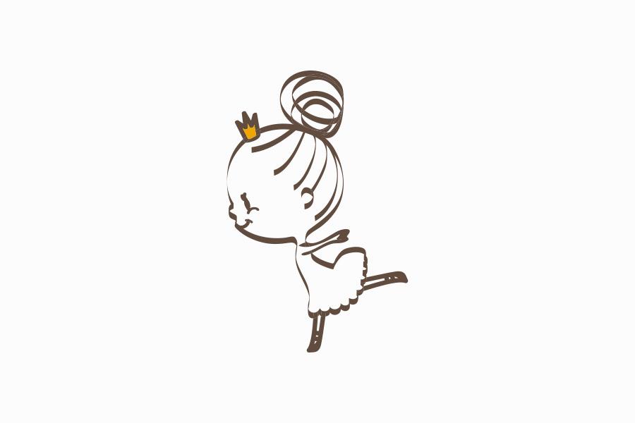 バレエスタジオのキャラクターデザイン