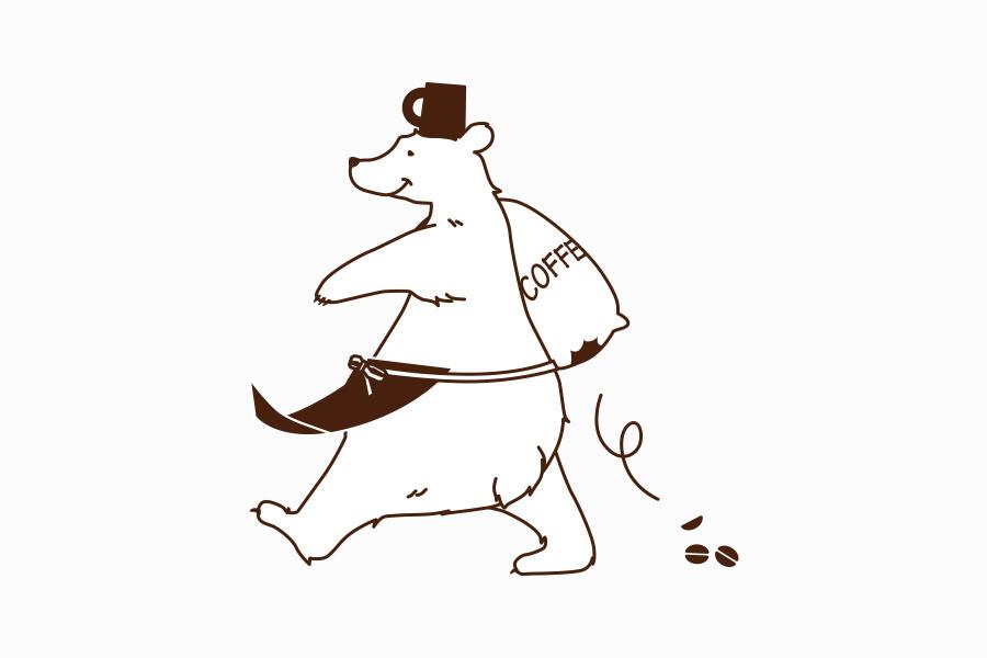 カフェのキャラクターデザイン_cafe Hサムネイル
