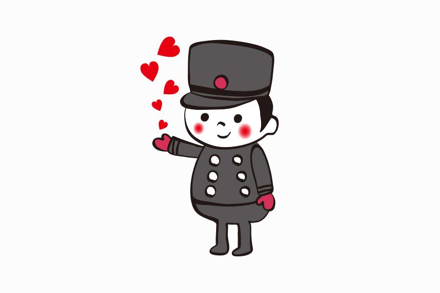 ケーキ屋のバレンタインキャラクターデザイン