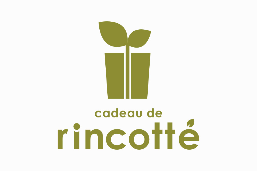 ケーキ屋のロゴマークデザイン_愛知県春日井市 cadeau de rincotté(カド・ドゥ・リンコット)
