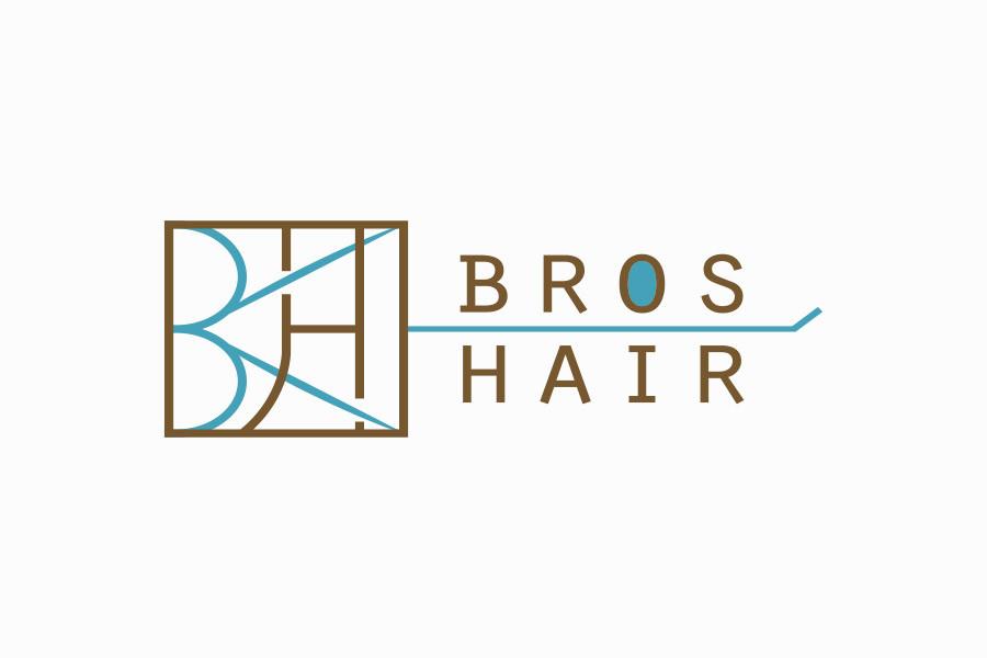 理美容室のロゴマークデザイン_愛知県豊明市 BROS HAIR(ブロスヘアー)サムネイル