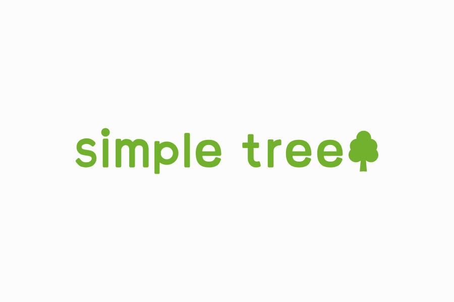 カットサロンのロゴマークデザイン_愛知県豊橋市 simple treeサムネイル