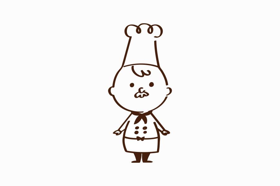 コックさんのキャラクターデザイン_名古屋市中区新栄 はらペコデザインラボサムネイル