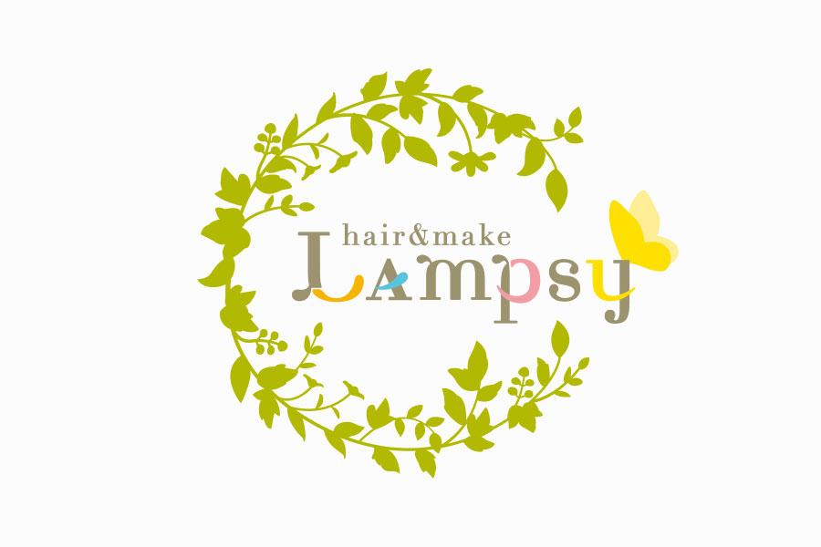 美容室のロゴマークデザイン_愛知県岡崎市 hair & make Lampsy