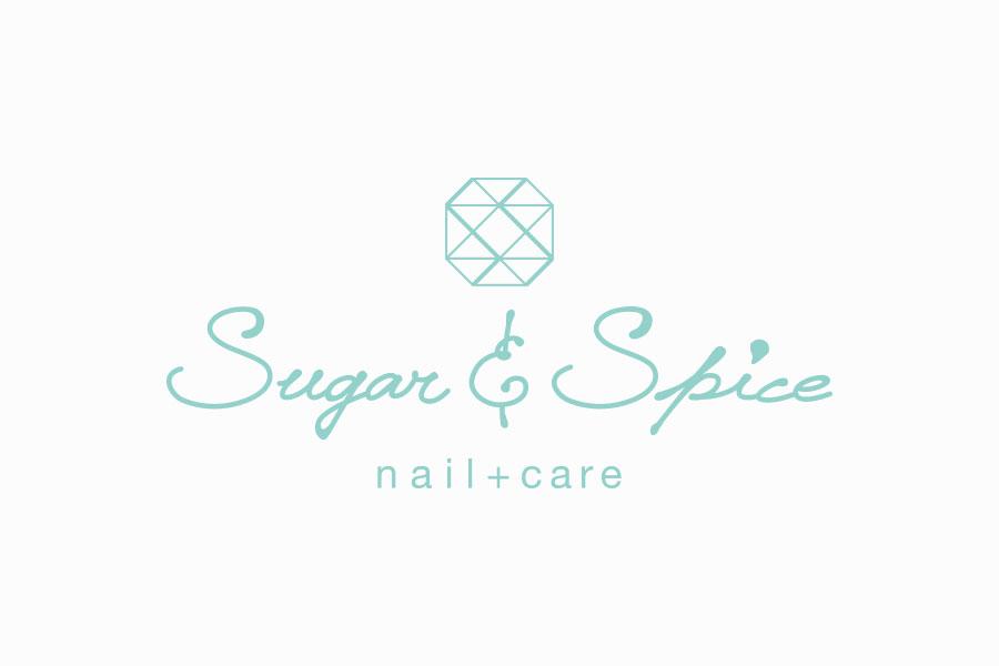 ネイルサロンのロゴマークデザイン_愛知県豊田市 Sugar & Spiceサムネイル