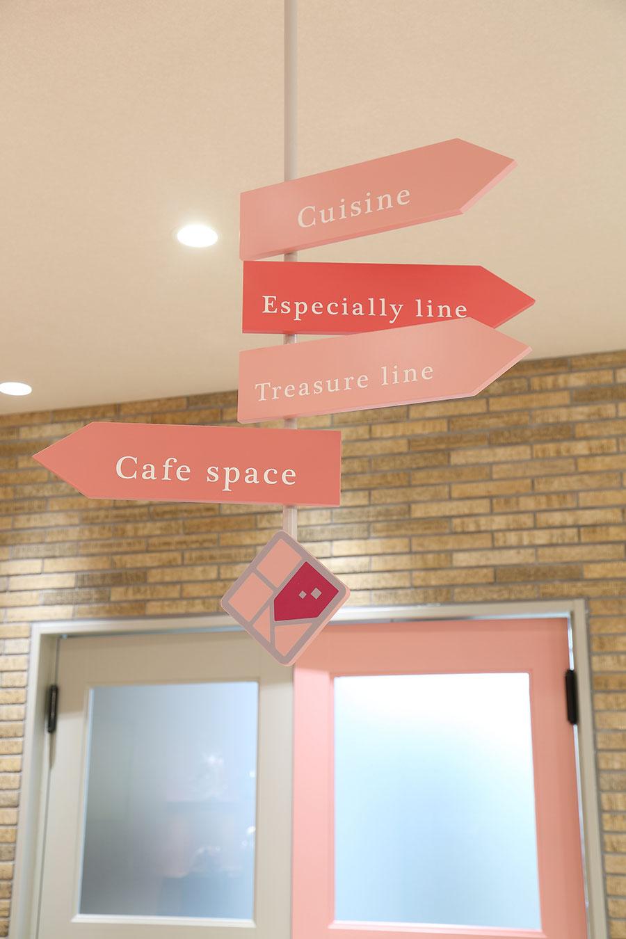 ケーキ屋のかわいい看板デザイン