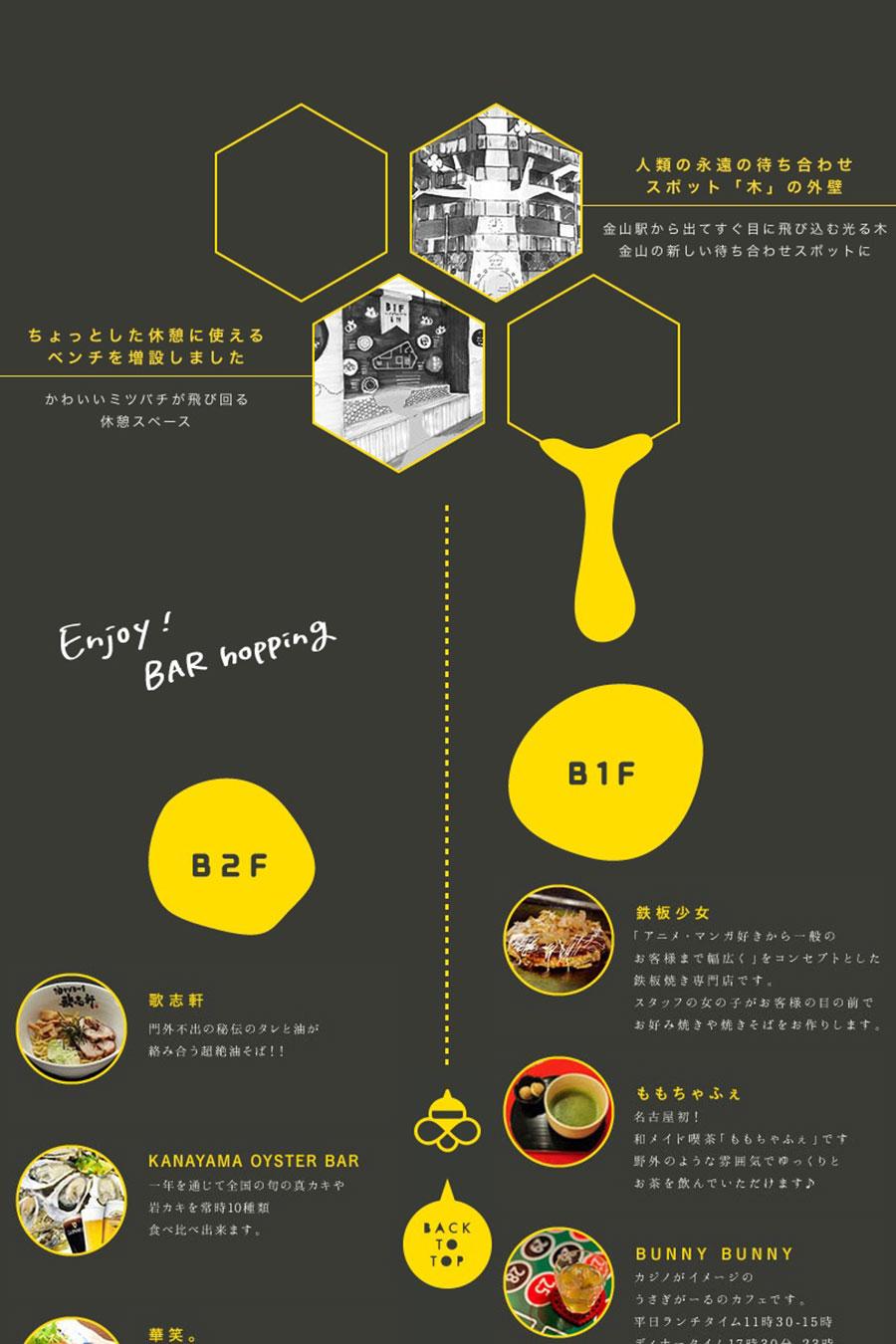 金山の飲食店のホームページデザイン
