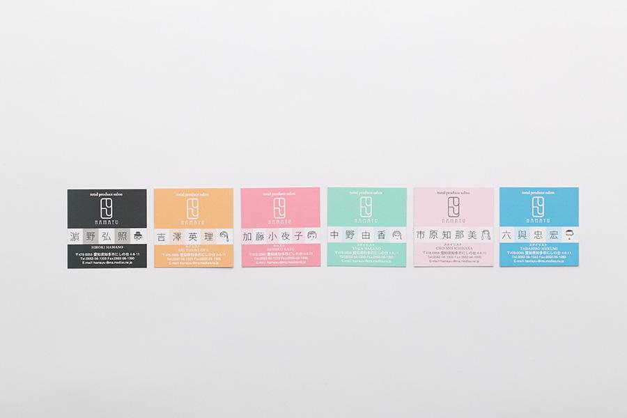 理容室・床屋の似顔絵名刺デザイン_愛知県知多市 トータルプロデュースサロンはまゆう
