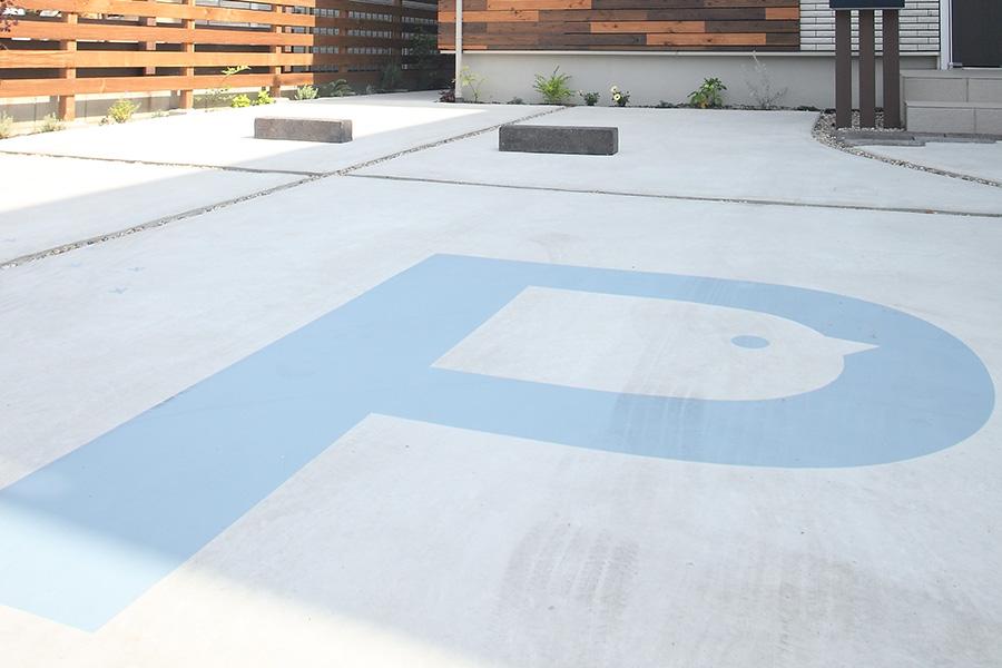 カフェ/駐車場のペイントサインデザイン_ひよこカフェ