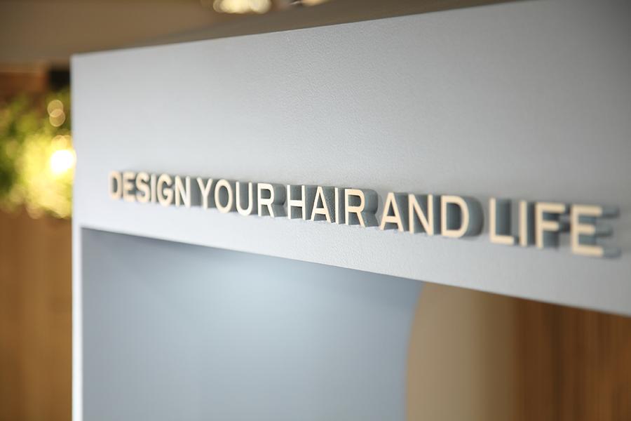 美容室/コンセプト文字のサインデザインサムネイル