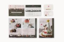 ケーキ屋のグラフィックデザイン