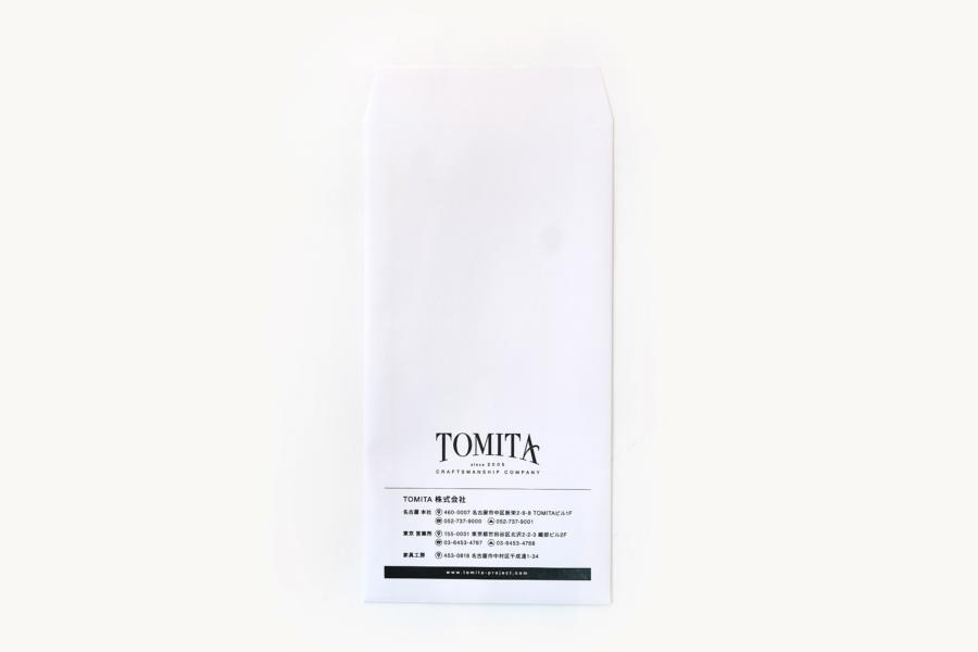 工務店の封筒デザイン_名古屋市中区新栄 TOMITA株式会社サムネイル