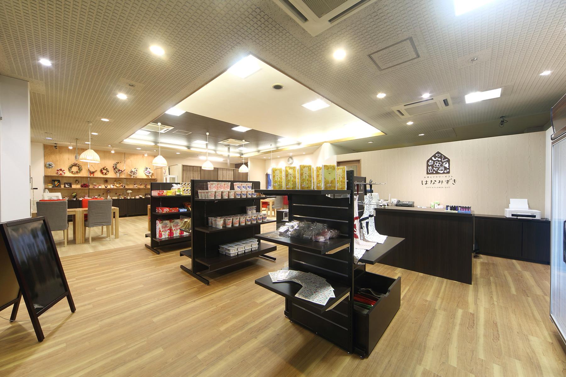 ショップとカフェの店舗デザイン