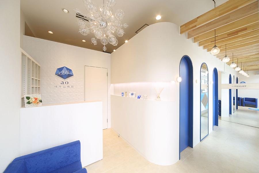 鍼灸院の店舗デザイン_名古屋市金山 aoはり治療院