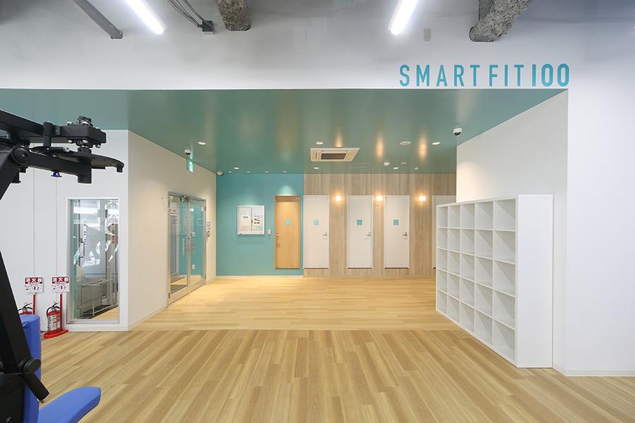 フィットネスジムの店舗デザイン_千葉県柏市 スマートフィット100南柏店