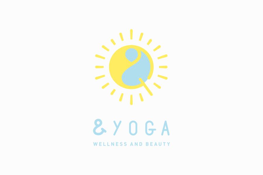 ヨガスタジオのロゴマークデザイン_&YOGA(アンドヨガ)サムネイル