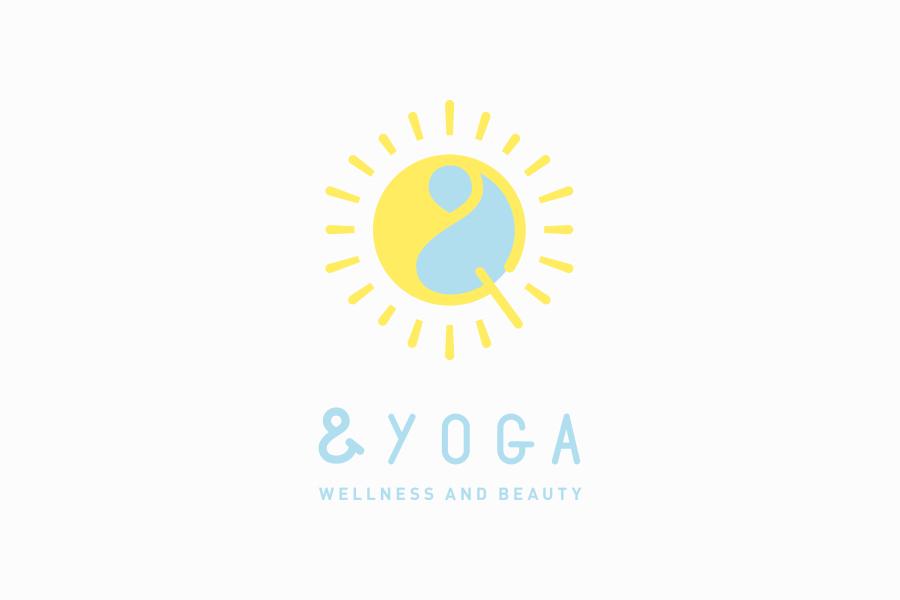 ヨガスタジオのロゴマークデザイン_&YOGA(アンドヨガ)
