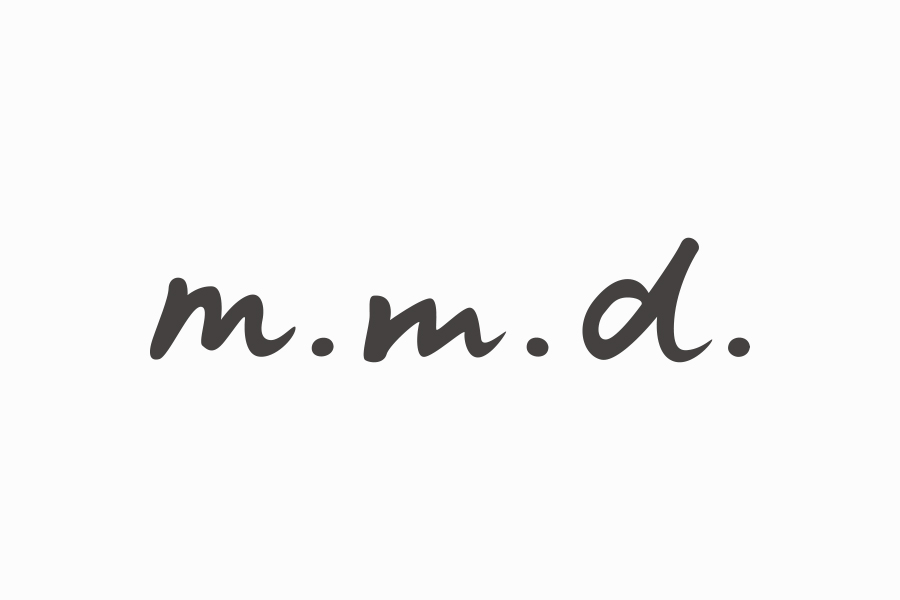 商品ブランドのロゴマークデザイン_m.m.d