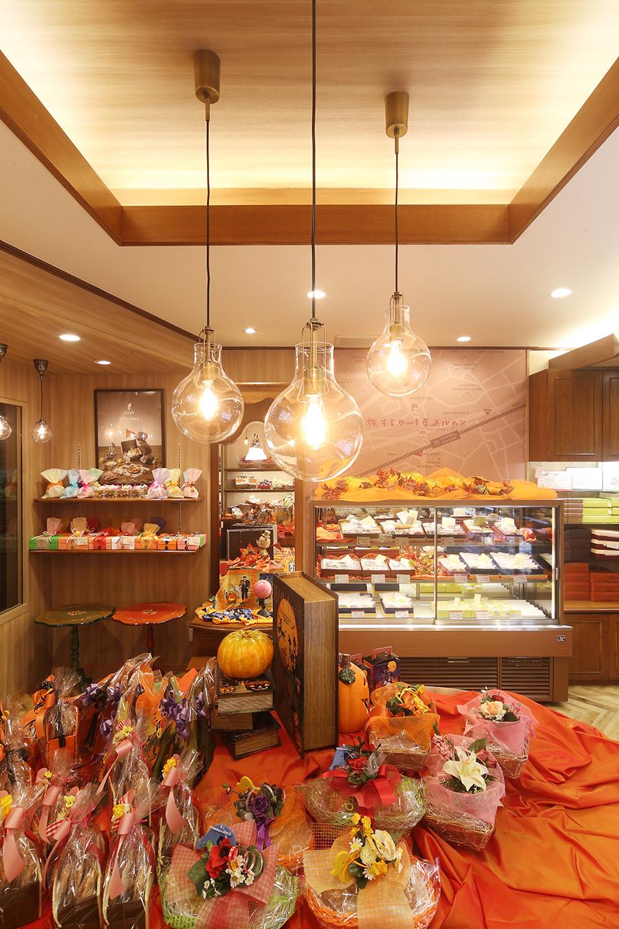 ケーキ屋の店舗デザイン