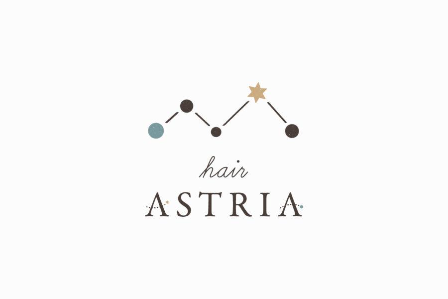 美容室のロゴマークデザイン_愛知県岡崎市 Hair ASTRIA(ヘアーアステリア)サムネイル
